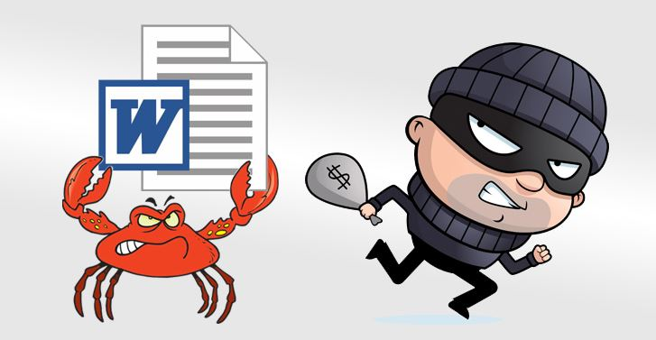 GandCrab ransomware and Ursnif virus spreading via MS Word macros
